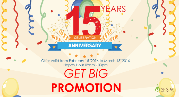 15 Years Celebration Anniversary Promotion